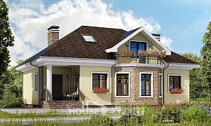 150-008-L Two Story House Plans with mansard roof, economical Plans To Build
