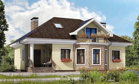 150-008-L Two Story House Plans with mansard roof, modern Drawing House, House Expert
