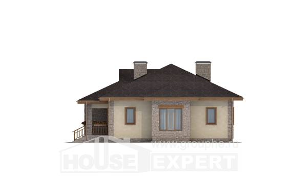 130-006-L One Story House Plans with garage in back, economical Online Floor,