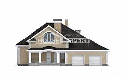 290-001-R Two Story House Plans with mansard roof with garage in back, big Home Blueprints, House Expert