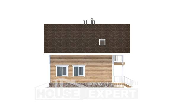 130-001-R Two Story House Plans and mansard, modern Drawing House
