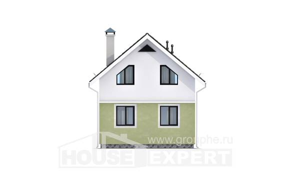 070-001-R Two Story House Plans with mansard roof, modest House Planes,