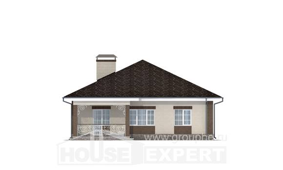 100-004-L One Story House Plans, inexpensive House Online
