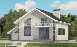 180-001-R Two Story House Plans and mansard and garage, inexpensive House Planes,