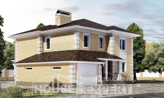 220-006-L Two Story House Plans with garage in back, cozy Cottages Plans,