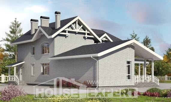 340-004-R Two Story House Plans, cozy Woodhouses Plans,
