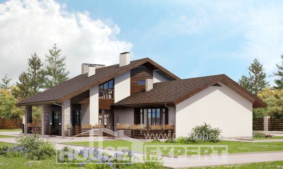 480-001-L Two Story House Plans with mansard roof, big Home Plans, House Expert
