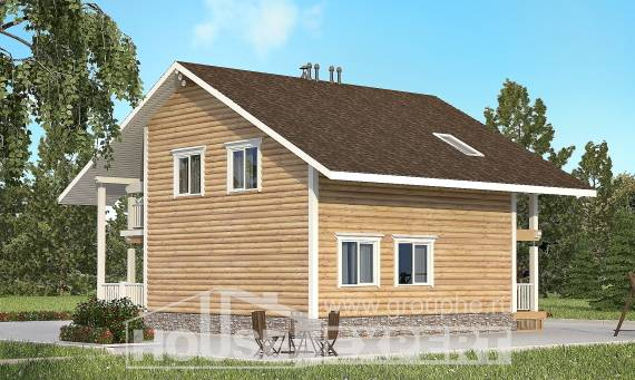 130-001-R Two Story House Plans with mansard, best house Drawing House