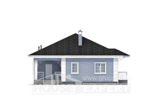 100-001-R One Story House Plans, modern House Online,