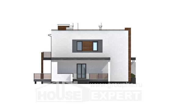 220-003-R Two Story House Plans with garage, a simple Villa Plan
