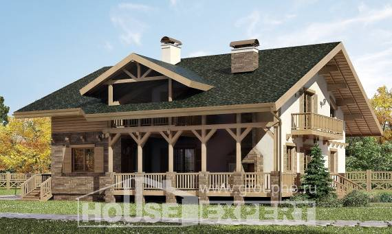 250-003-L Two Story House Plans with mansard roof, big House Online,