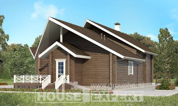 210-002-L Two Story House Plans with mansard roof, modern Planning And Design,