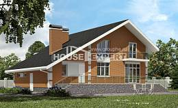 190-006-R Two Story House Plans with mansard and garage, luxury Plan Online,