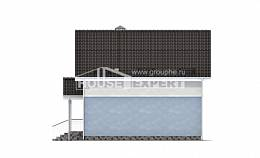 095-002-R Two Story House Plans and mansard, classic Architect Plans,