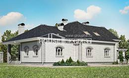 385-001-R Two Story House Plans and mansard with garage under, modern House Plan, House Expert