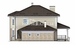 220-007-R Two Story House Plans with garage under, luxury Cottages Plans
