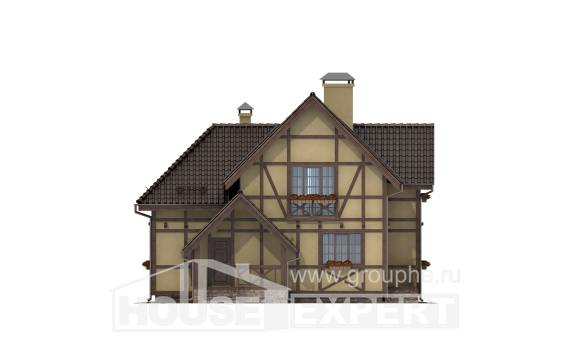 160-003-R Two Story House Plans and mansard, modern Plan Online,
