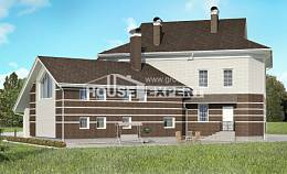 410-001-R Two Story House Plans and garage, spacious House Planes,
