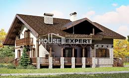 250-003-R Two Story House Plans with mansard roof, a huge Dream Plan, House Expert