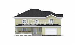 410-002-L Two Story House Plans with garage, modern Tiny House Plans,