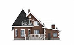 220-002-L Two Story House Plans with mansard roof with garage under, luxury Floor Plan,