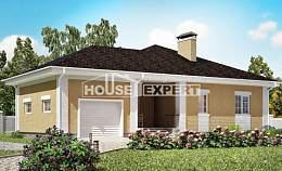130-002-L One Story House Plans with garage in back, beautiful Home Blueprints,