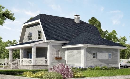 160-006-L Two Story House Plans and mansard with garage in back, best house Planning And Design, House Expert