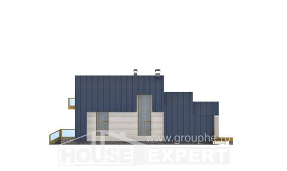 060-006-R Two Story House Plans with mansard roof, miniature Architects House,