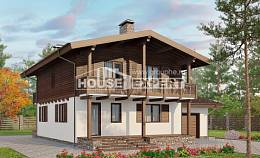 180-018-L Two Story House Plans and mansard with garage under, the budget Plans To Build, House Expert