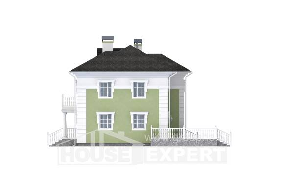 155-005-R Two Story House Plans, best house Villa Plan,
