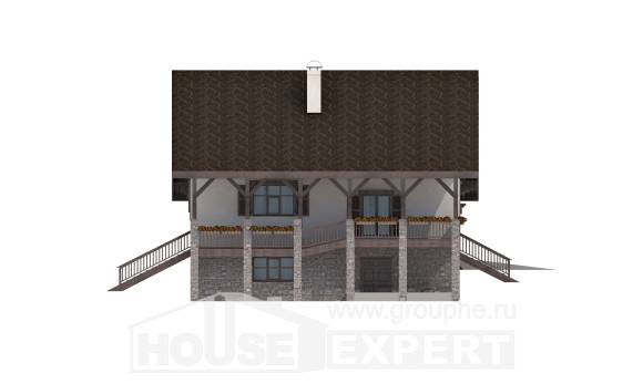 300-003-R Three Story House Plans and mansard with garage in front, beautiful Models Plans,