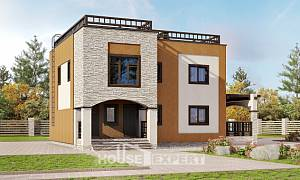 150-010-L Two Story House Plans, cozy House Planes
