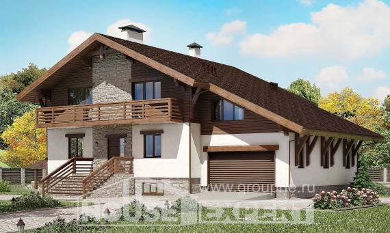 420-001-R Three Story House Plans with mansard roof with garage, cozy Design House, House Expert
