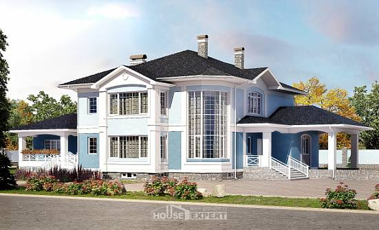 620-001-R Three Story House Plans with garage under, big Online Floor,