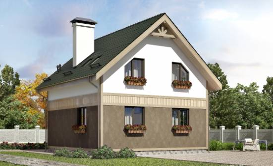 105-001-L Two Story House Plans with mansard, inexpensive Tiny House Plans, House Expert
