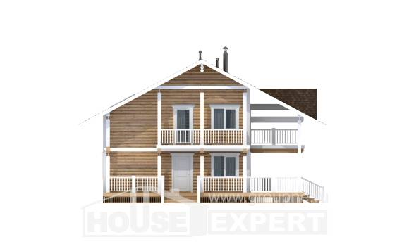 130-001-R Two Story House Plans with mansard roof, modern Blueprints