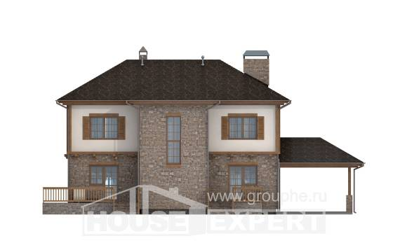 155-006-L Two Story House Plans with garage under, small Online Floor, House Expert