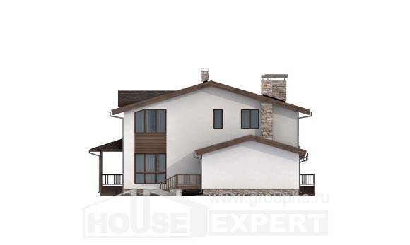 220-001-R Two Story House Plans with mansard roof and garage, beautiful House Building,
