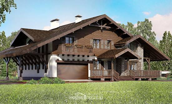 320-001-R Two Story House Plans and mansard with garage under, spacious Models Plans,