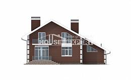 180-001-L Two Story House Plans with mansard with garage, inexpensive Design Blueprints, House Expert