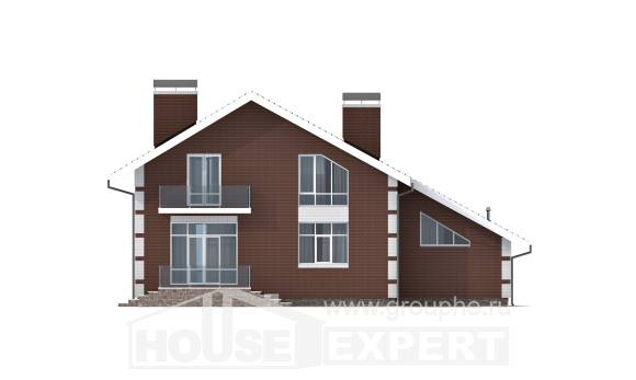 180-001-L Two Story House Plans and mansard with garage, the budget Dream Plan