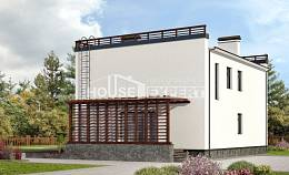 215-002-R Two Story House Plans, modern Floor Plan,