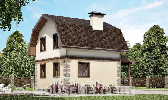 070-004-R Two Story House Plans with mansard roof, available Ranch