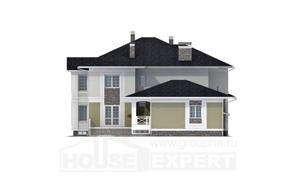 620-001-L Three Story House Plans and garage, modern Design House, House Expert