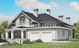 385-001-R Two Story House Plans and mansard and garage, spacious Home Blueprints, House Expert
