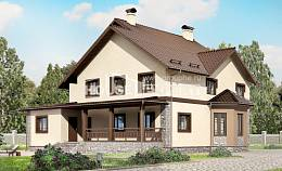 265-003-L Two Story House Plans, spacious Tiny House Plans