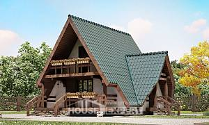 070-003-R Two Story House Plans with mansard roof, inexpensive Models Plans,