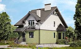 120-003-R Two Story House Plans, modest Building Plan,