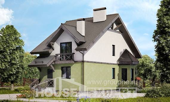 120-003-R Two Story House Plans, compact Floor Plan, House Expert