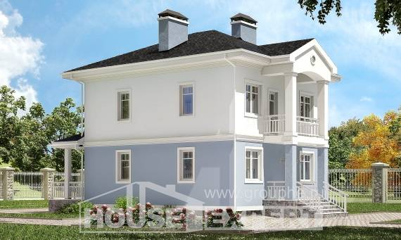 120-001-R Two Story House Plans, a simple Cottages Plans